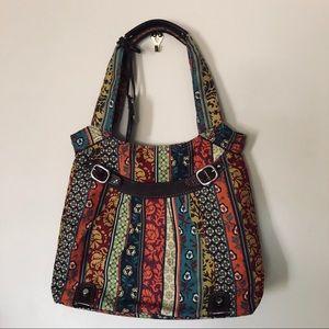 Fossil Boho Floral Shoulder Bag